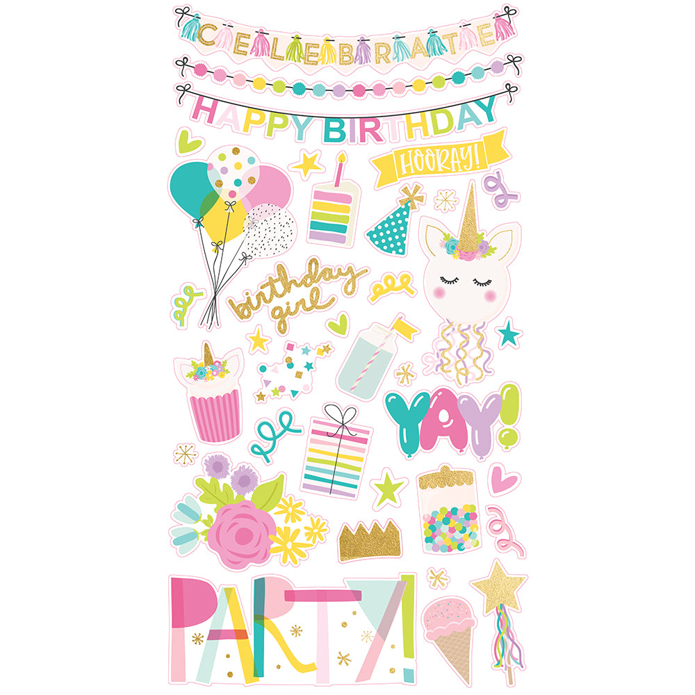 Magical Birthday 6x12 Chipboard
