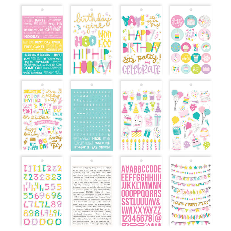 Magical Birthday 4x6 Sticker Book