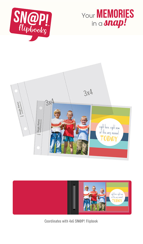 4x6 SN@P! Flipbook Pages - 3x4 Pack Refills