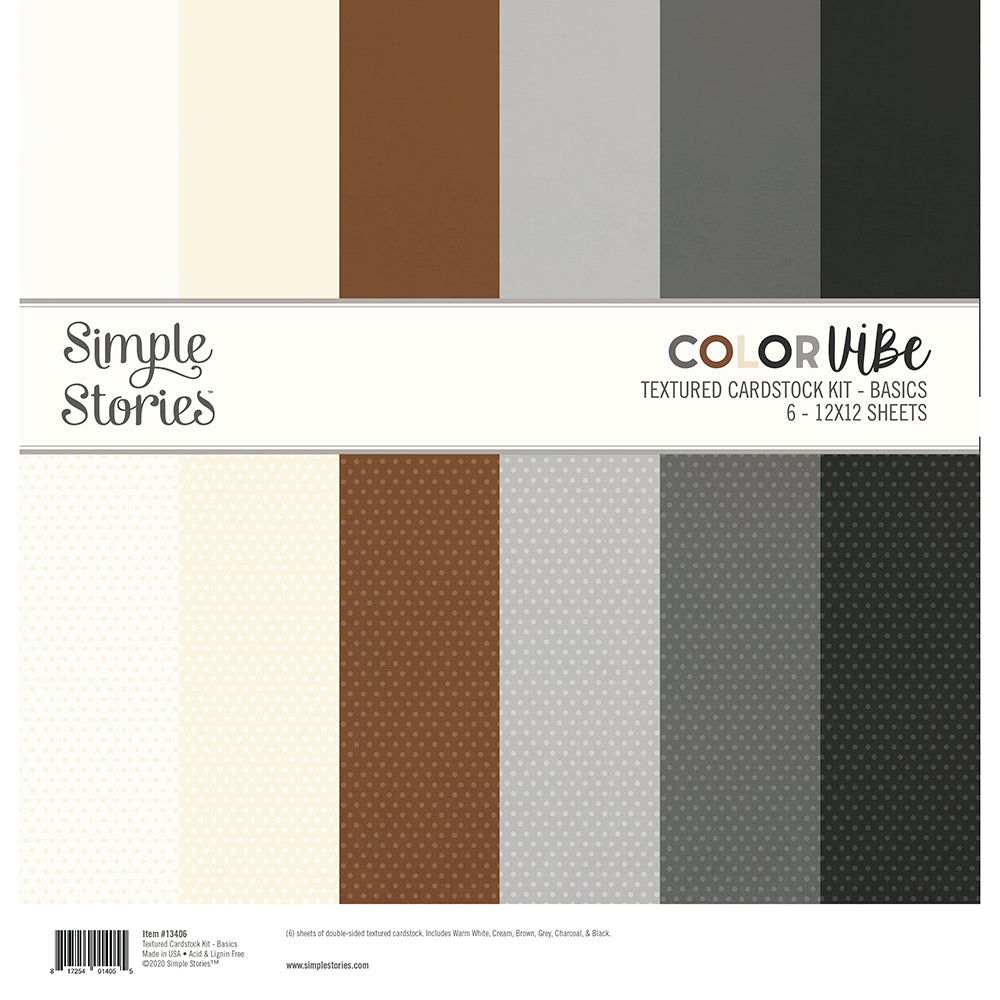 Color Vibe Textured Cardstock Kit - Basics