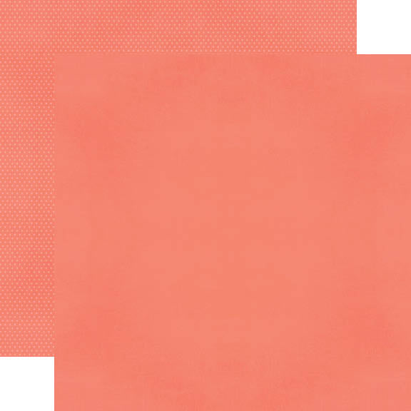Color Vibe 12x12 Textured Cardstock - Coral
