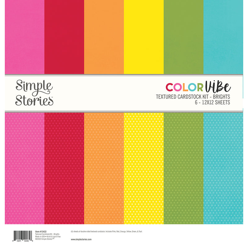 Color Vibe 12x12 Textured Cardstock - Charcoal