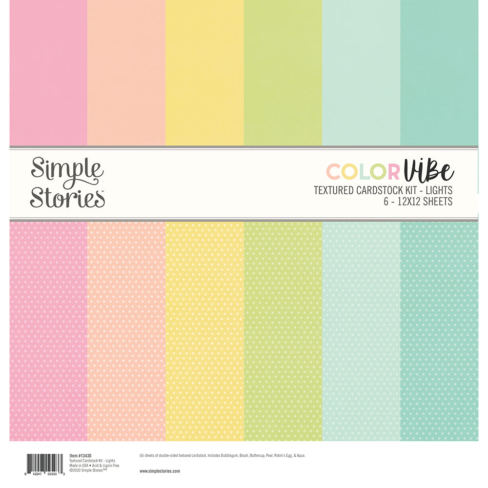 Color Vibe Textured Cardstock Kit - Lights