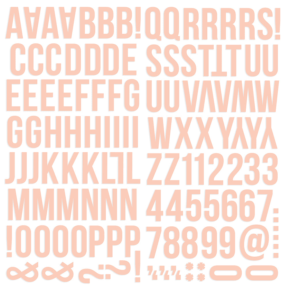 Color Vibe Foam Alpha Stickers - Blush