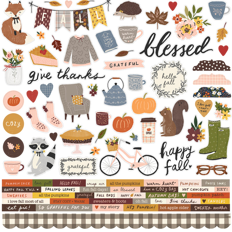 Cozy Days - Cardstock Sticker
