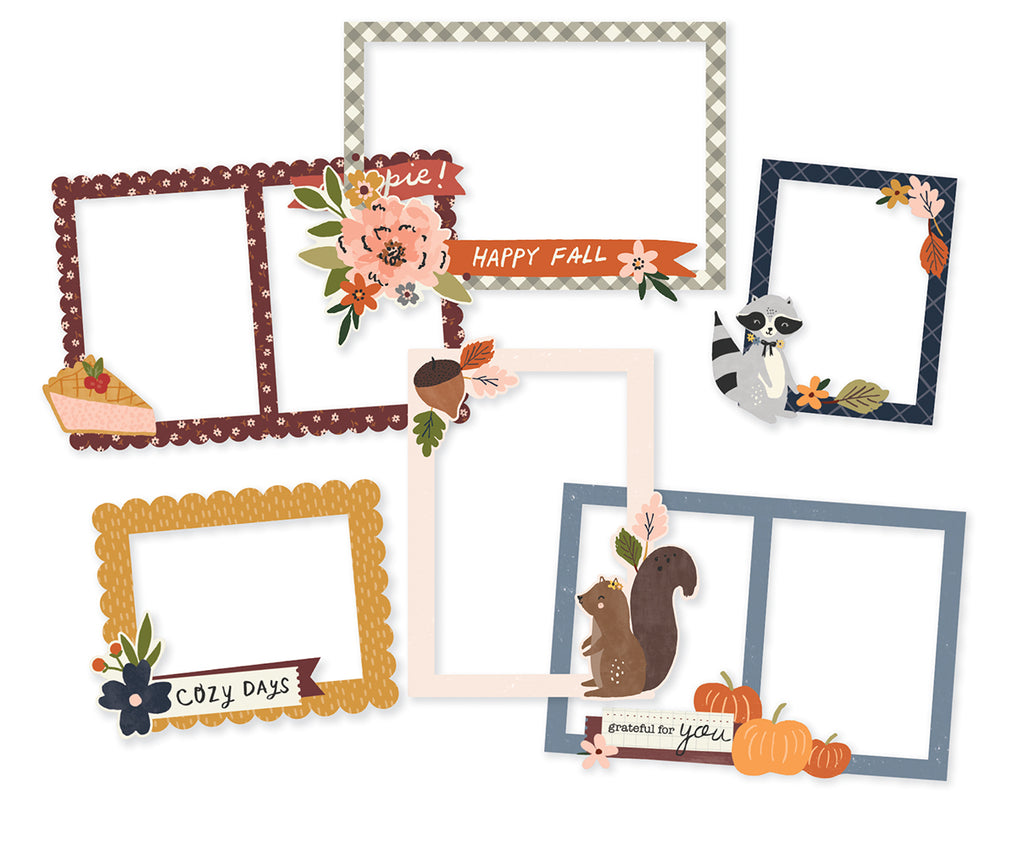 Cozy Days - Chipboard Frames