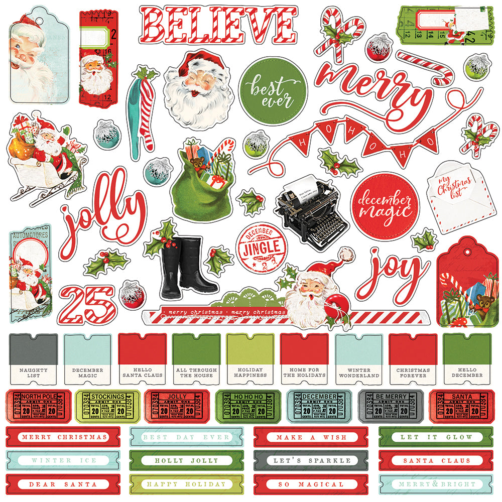 Simple Vintage North Pole 12x12 Collection Kit