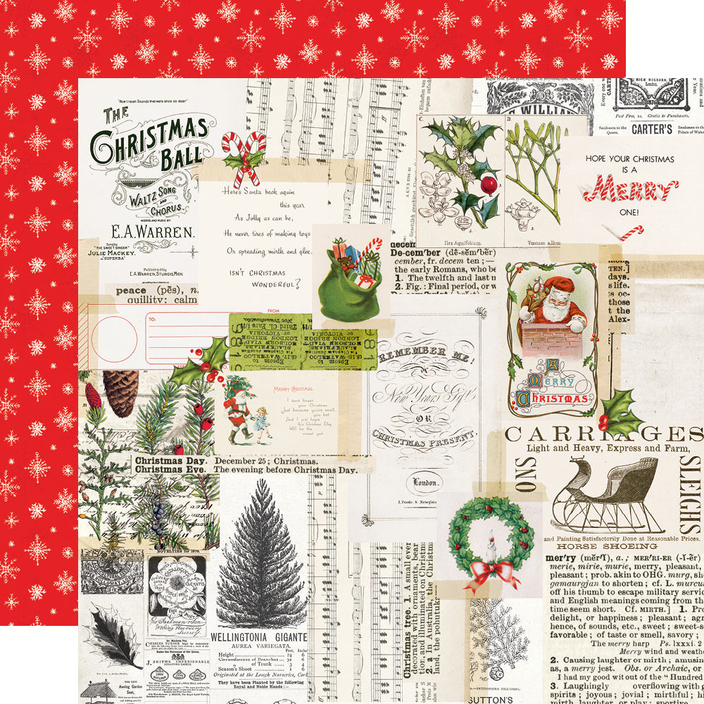 Simple Vintage North Pole - Merry Memories