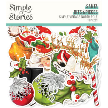 Simple Vintage North Pole - Santa Bits & Pieces