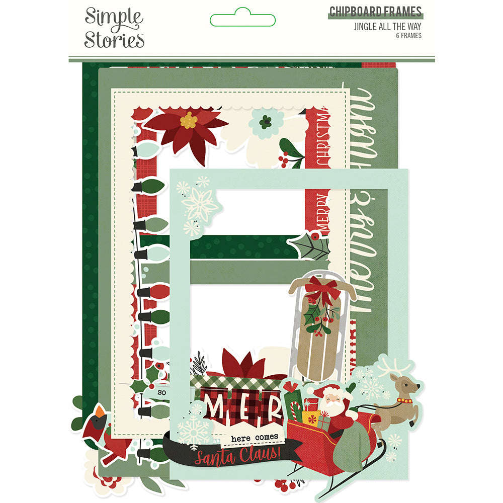Jingle All the Way - Chipboard Frames