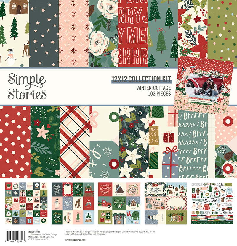 Winter Cottage - Sticker Book