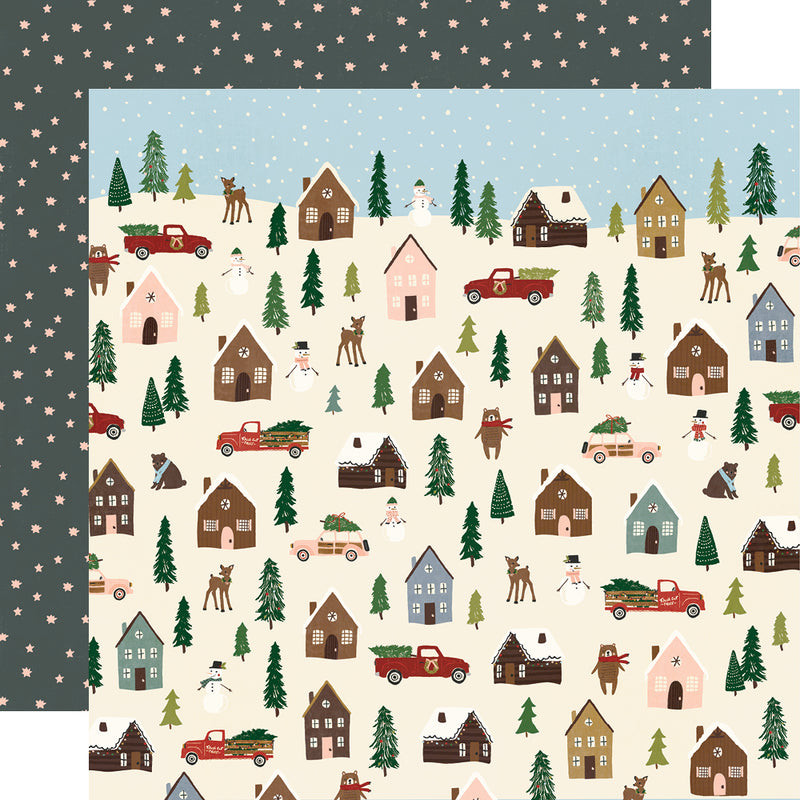 Winter Cottage - Puffy Stickers