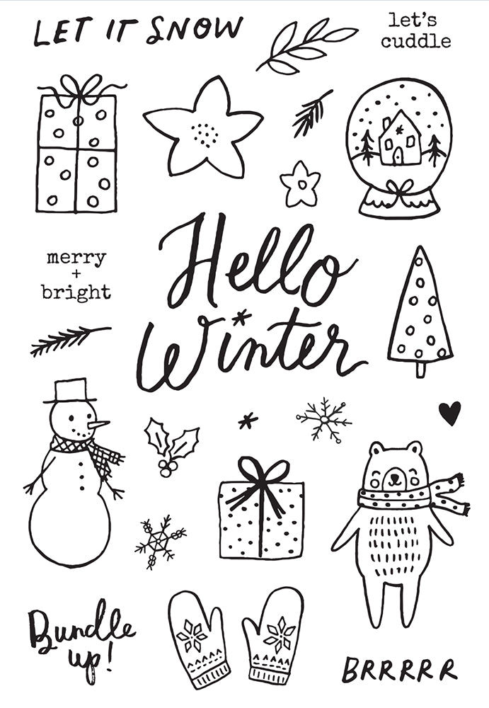 Winter Cottage - Stamps