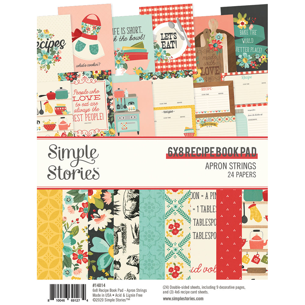 Apron Strings - 6x8 Recipe Book Pad