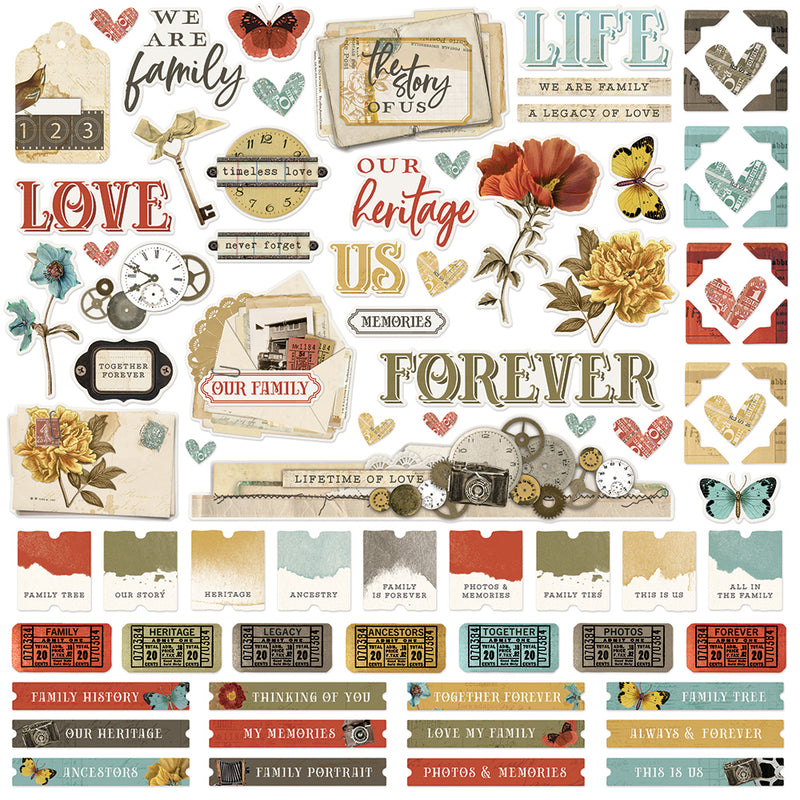 Simple Vintage Ancestry - 12x12 Basics Kit