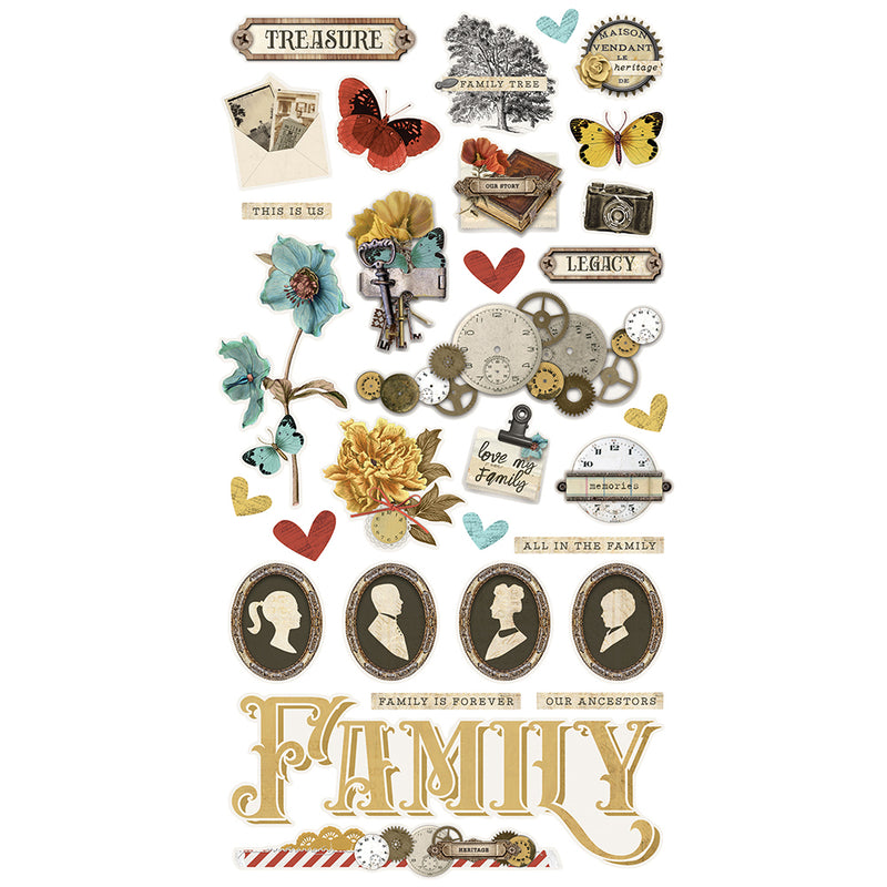 Simple Vintage Ancestry - 6x12 Chipboard