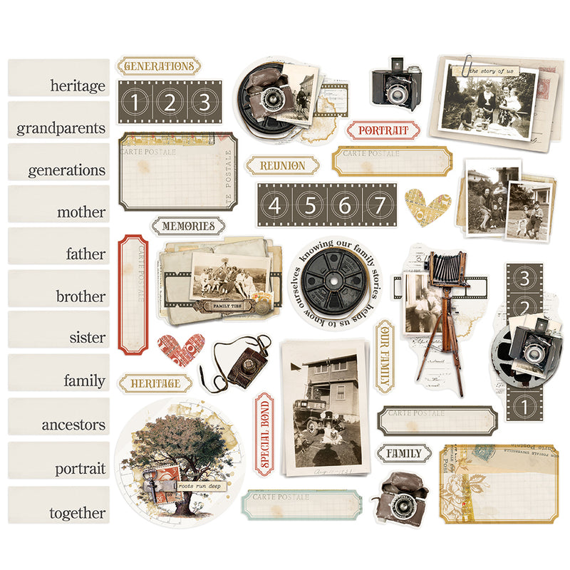 Simple Vintage Ancestry - Portrait Bits & Pieces
