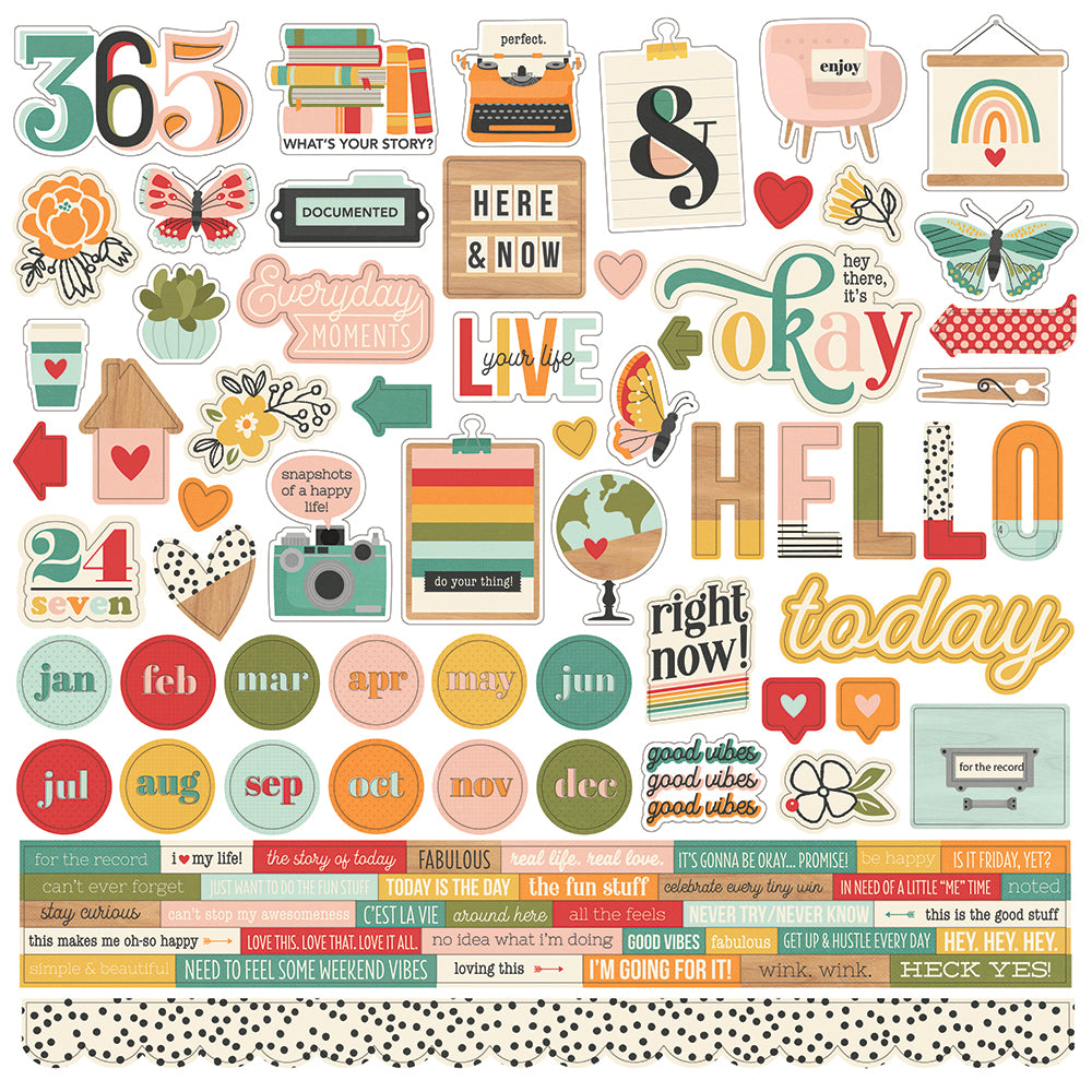 Hello Today - Cardstock Sticker