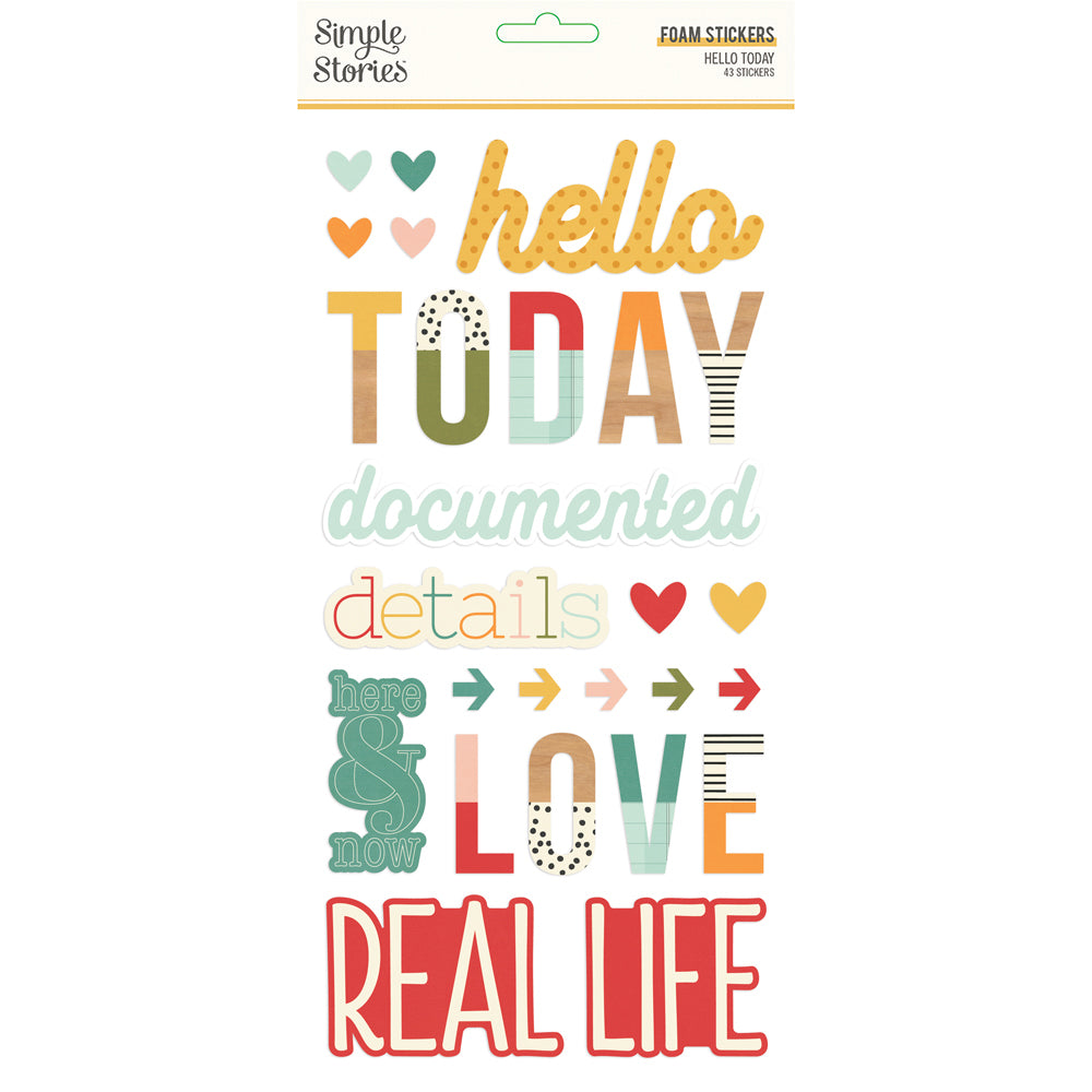 Hello Today - Foam Stickers