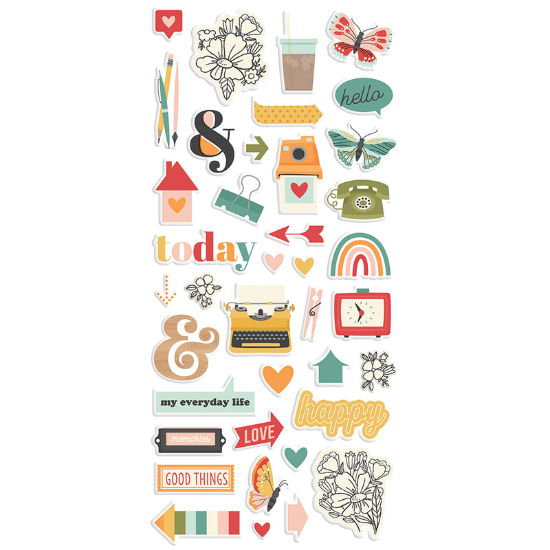 Hello Today - Puffy Stickers
