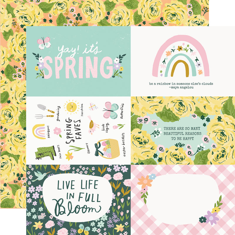 Bunnies + Blooms - Cardstock Sticker