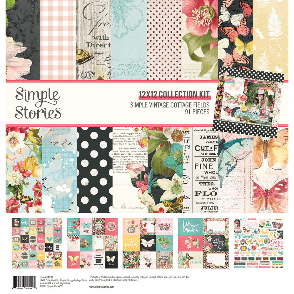 Simple Vintage Cottage Fields - Collection Kit