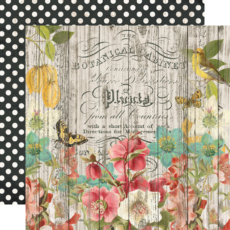Simple Vintage Cottage Fields - Cardstock Sticker