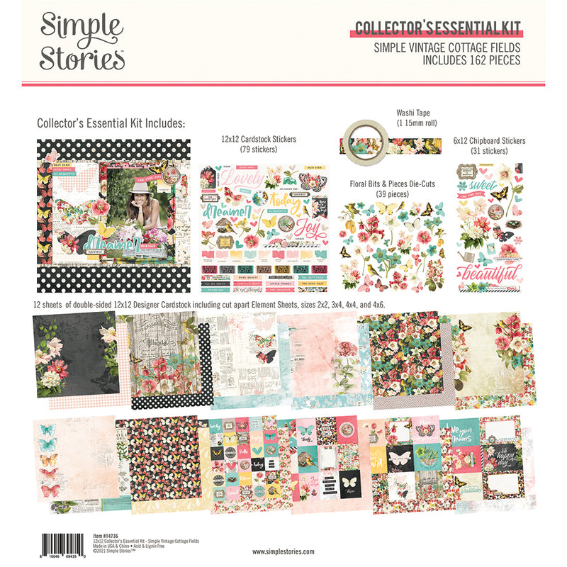 Simple Vintage Cottage Fields - Collector's Essential Kit
