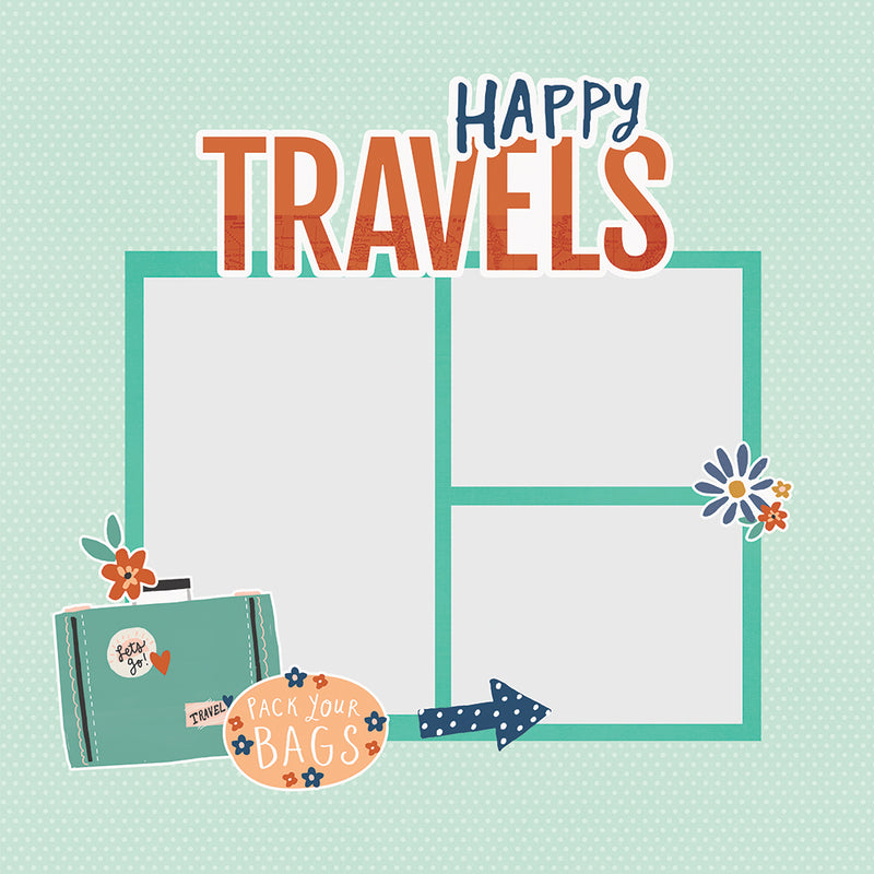 Simple Pages Page Pieces - Happy Travels