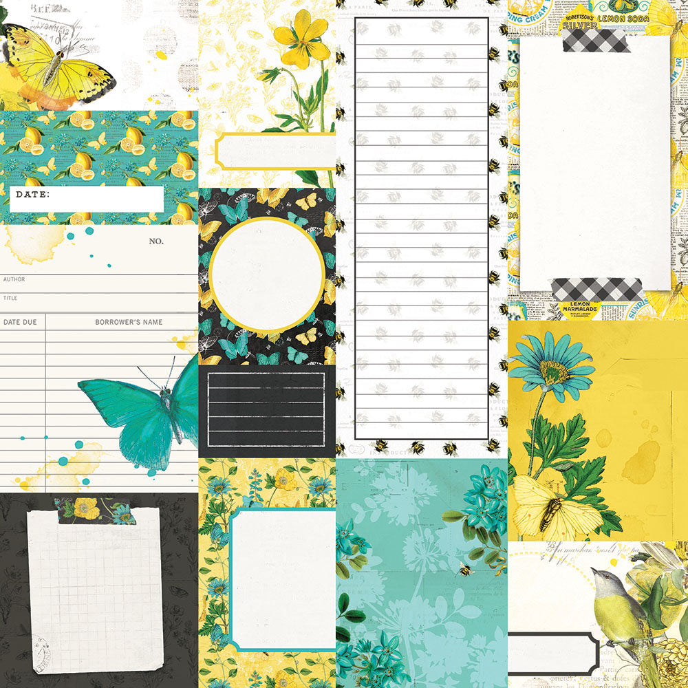 Simple Vintage Lemon Twist - Journal Elements