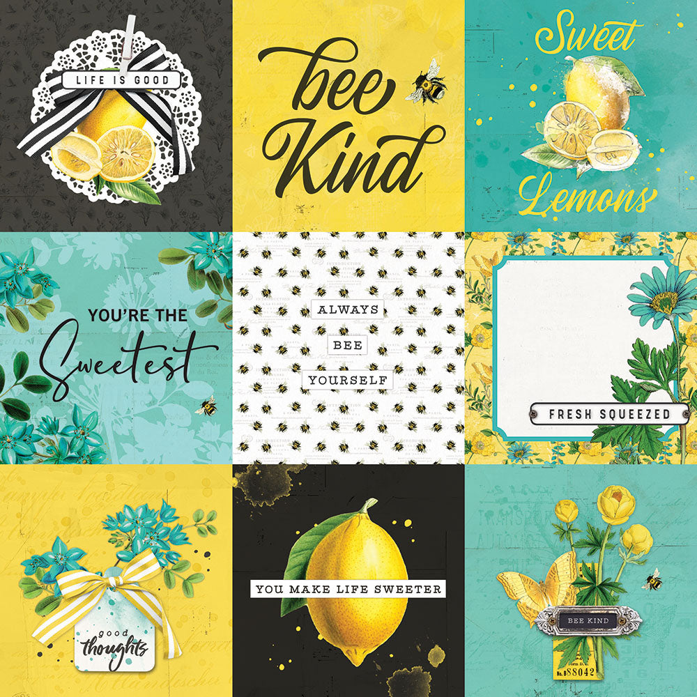 Simple Vintage Lemon Twist - 4x4 Elements
