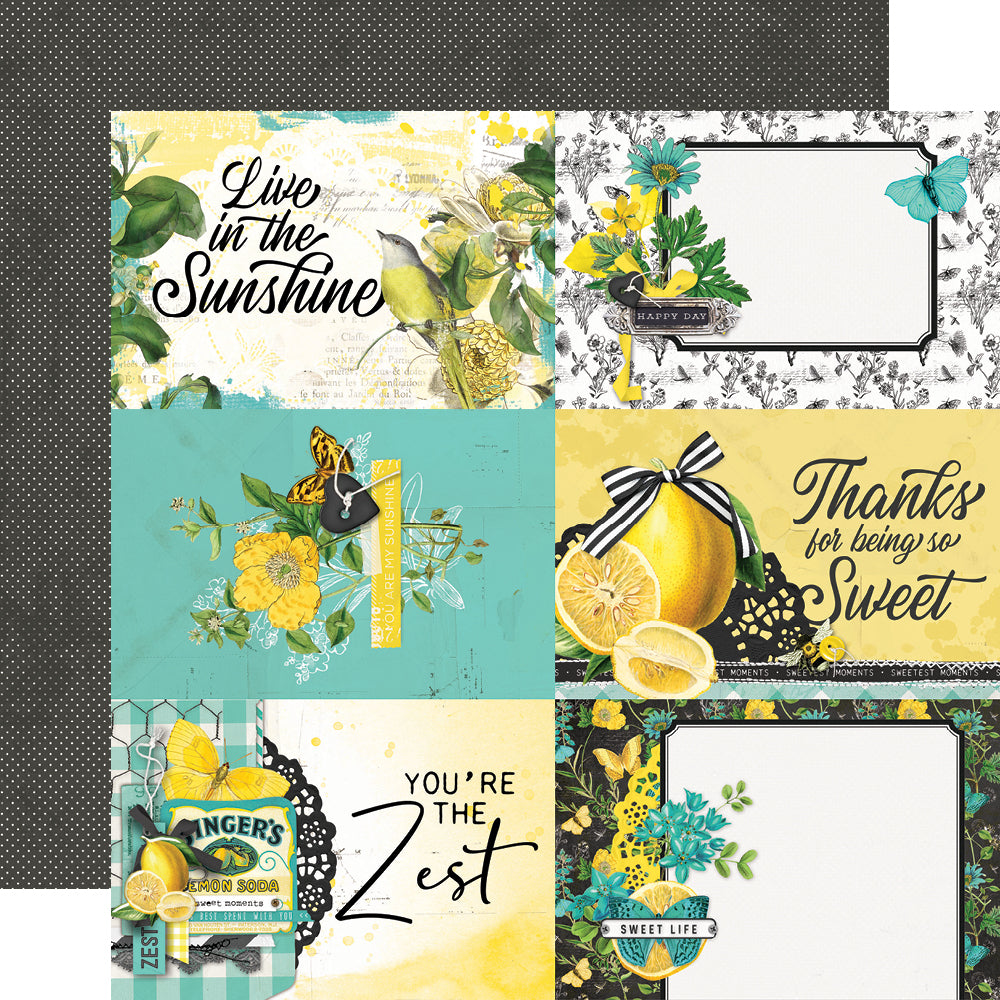 Simple Vintage Lemon Twist - 4x6 Elements