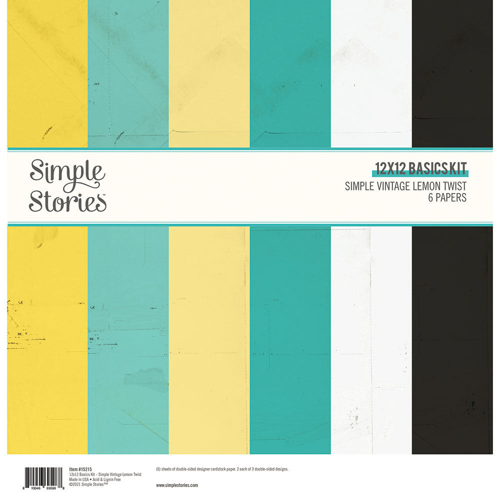 Simple Vintage Lemon Twist - 12x12 Basics Kit