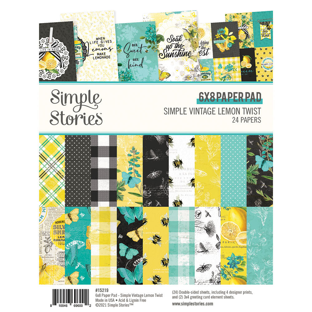 Simple Vintage Lemon Twist - 6x8 Pad
