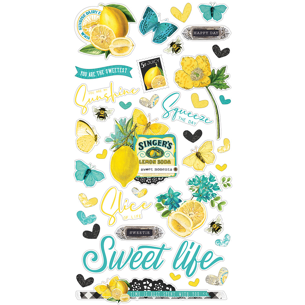 Simple Vintage Lemon Twist - 6x12 Chipboard