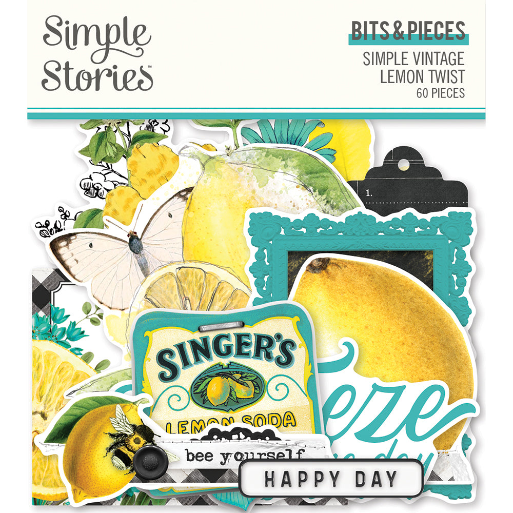 Simple Vintage Lemon Twist - Bits & Pieces