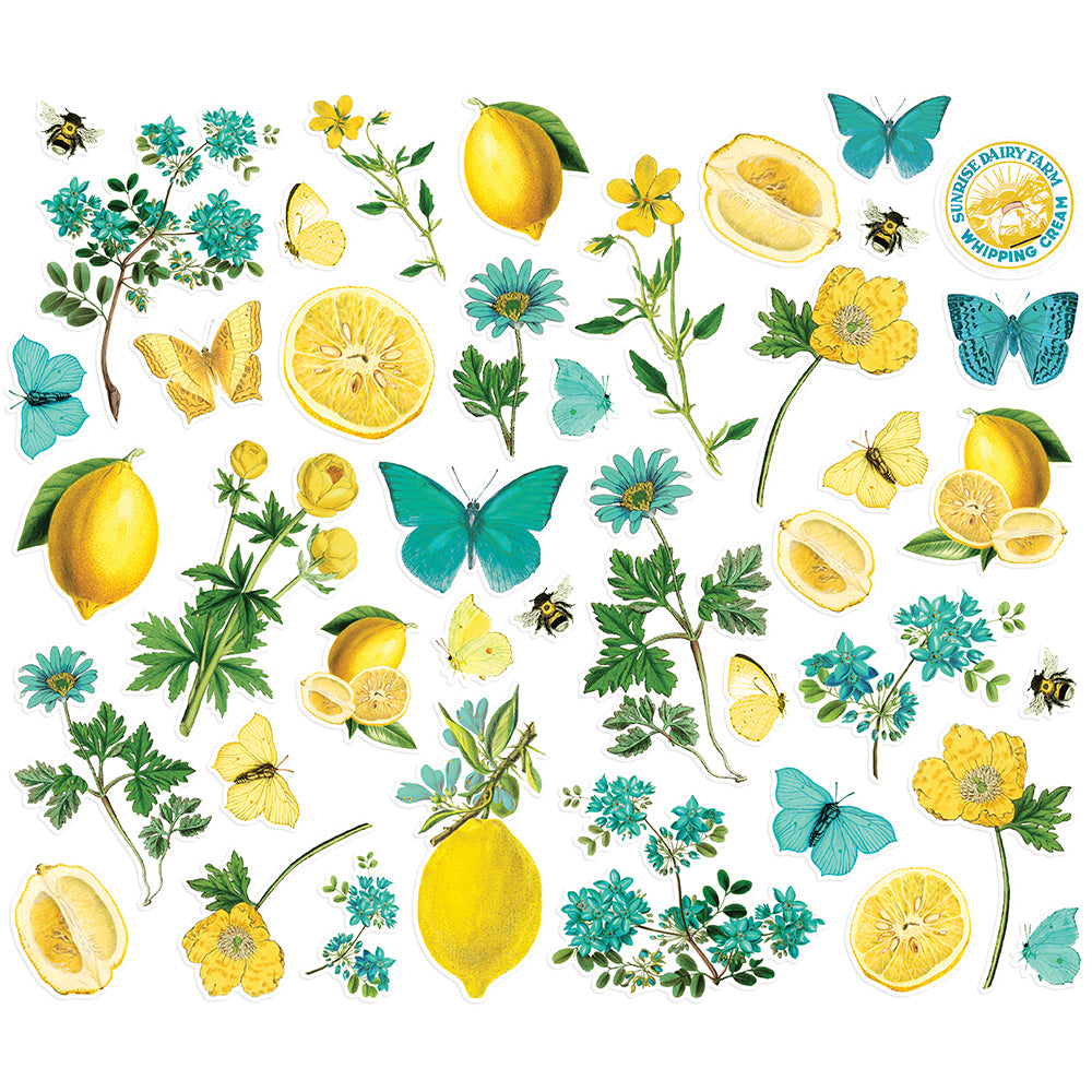 Simple Vintage Lemon Twist - Floral Bits & Pieces