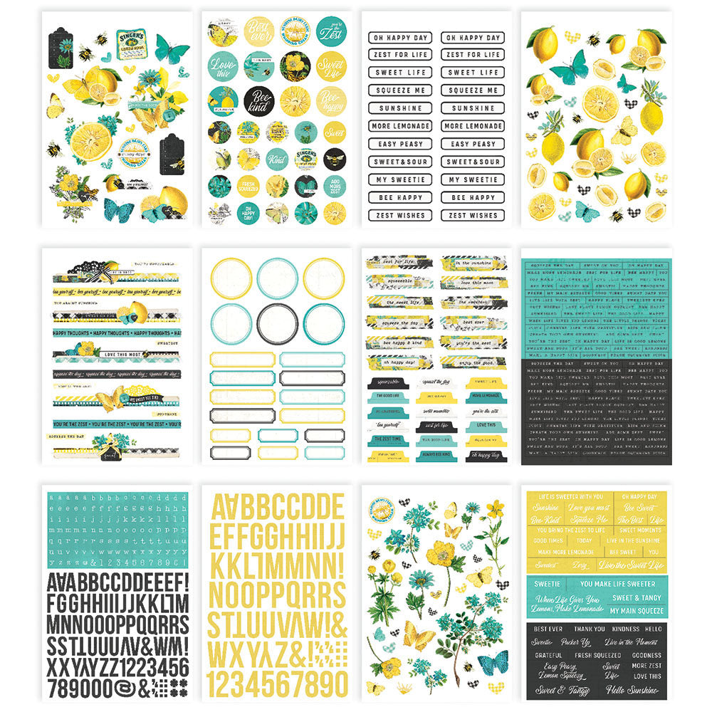 Simple Vintage Lemon Twist - Sticker Book