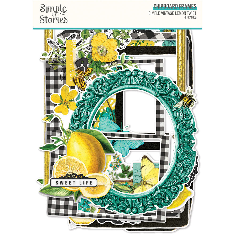 Simple Vintage Lemon Twist - Chipboard Frames