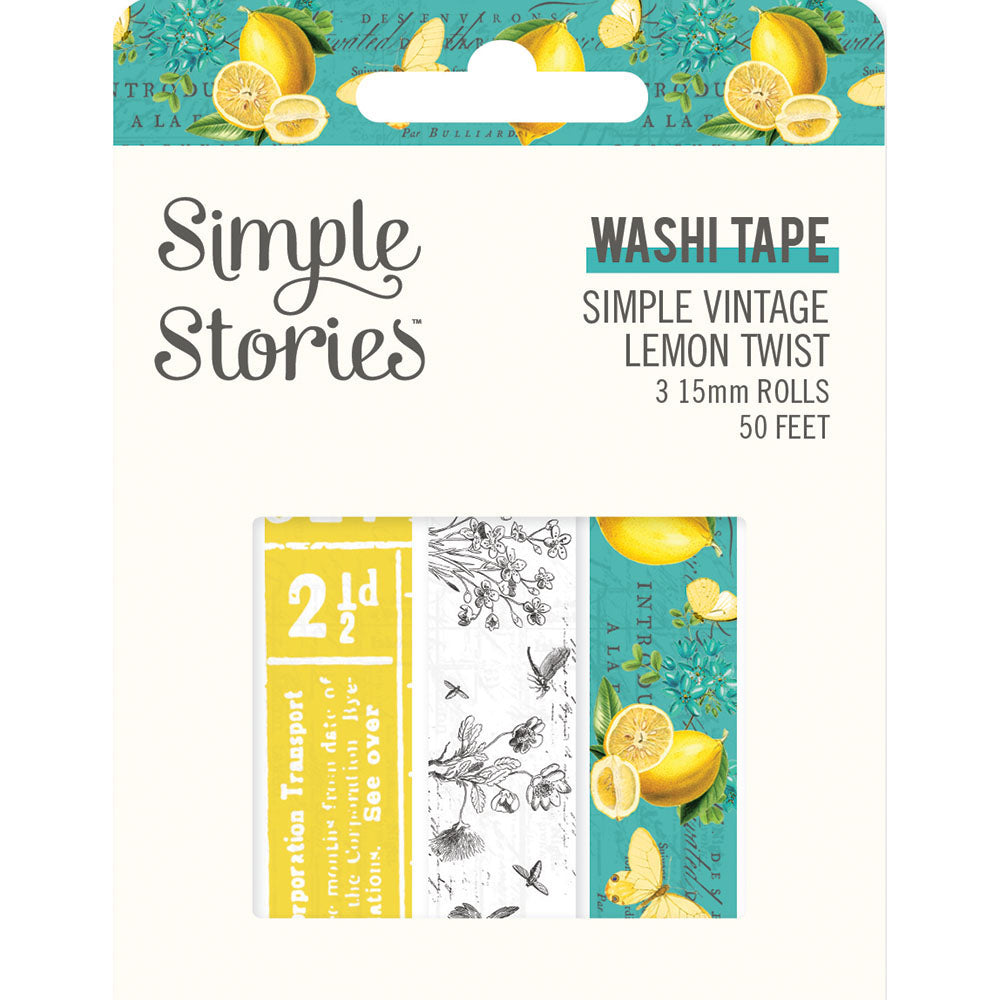 Simple Vintage Lemon Twist- Washi Tape