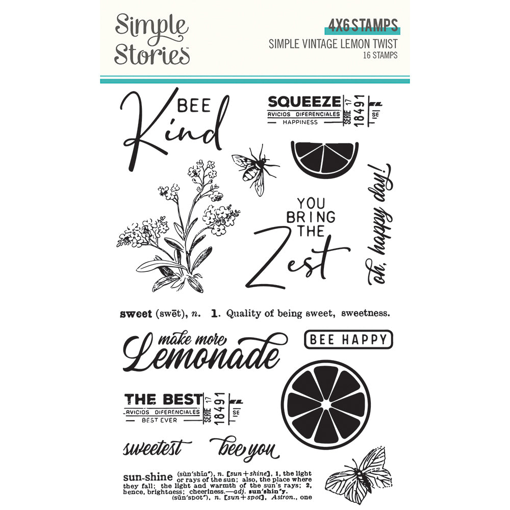 Simple Vintage Lemon Twist - Stamps