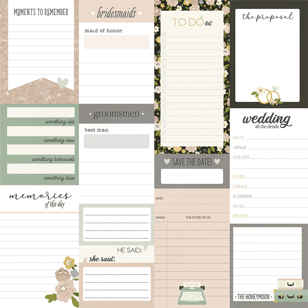 Happily Ever After - Journal Elements