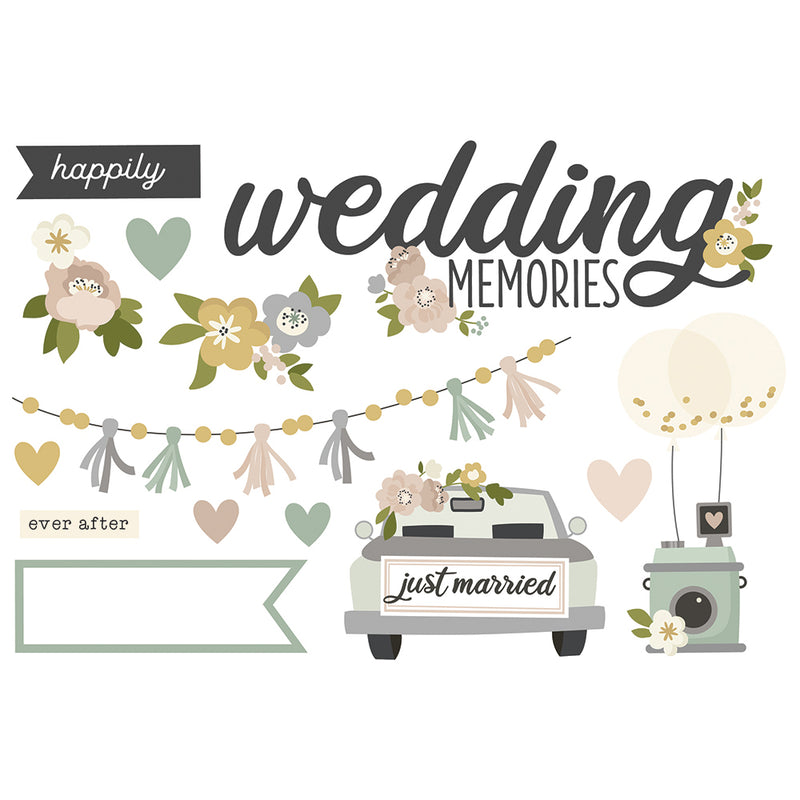 Simple Pages Page Pieces - Wedding Memories