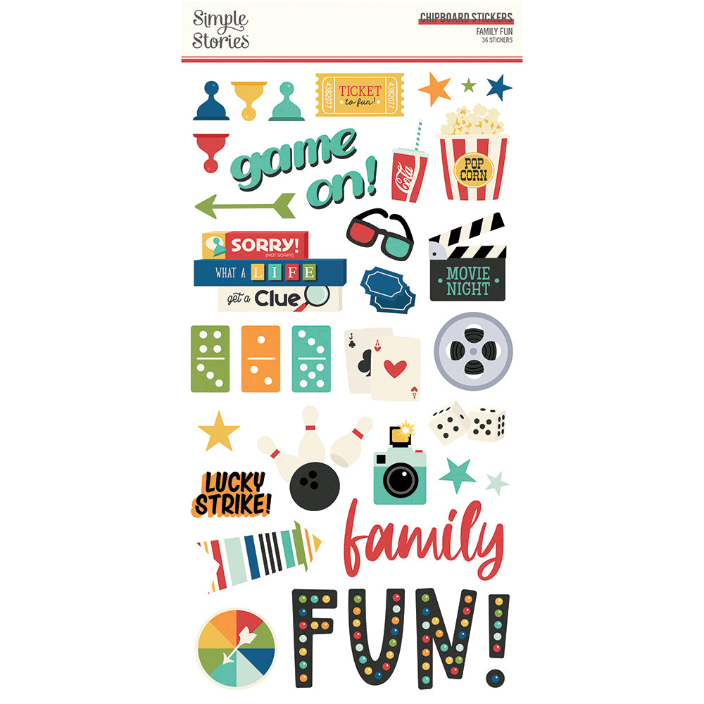 Family Fun - 6x12 Chipboard