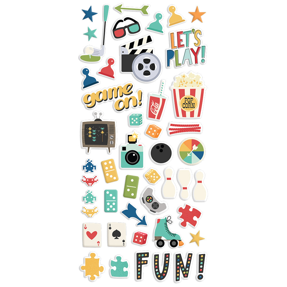 Family Fun - Puffy Stickers