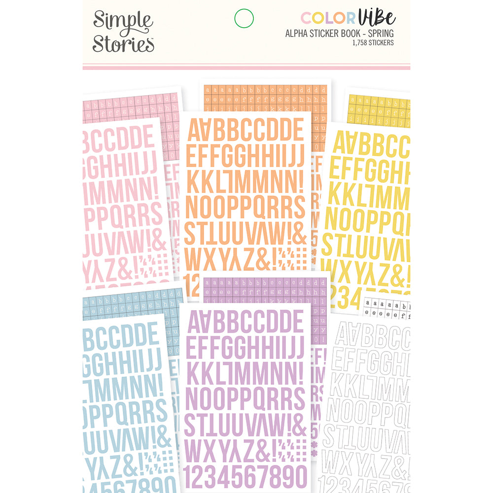Color Vibe - Alphabet Sticker Book - Spring