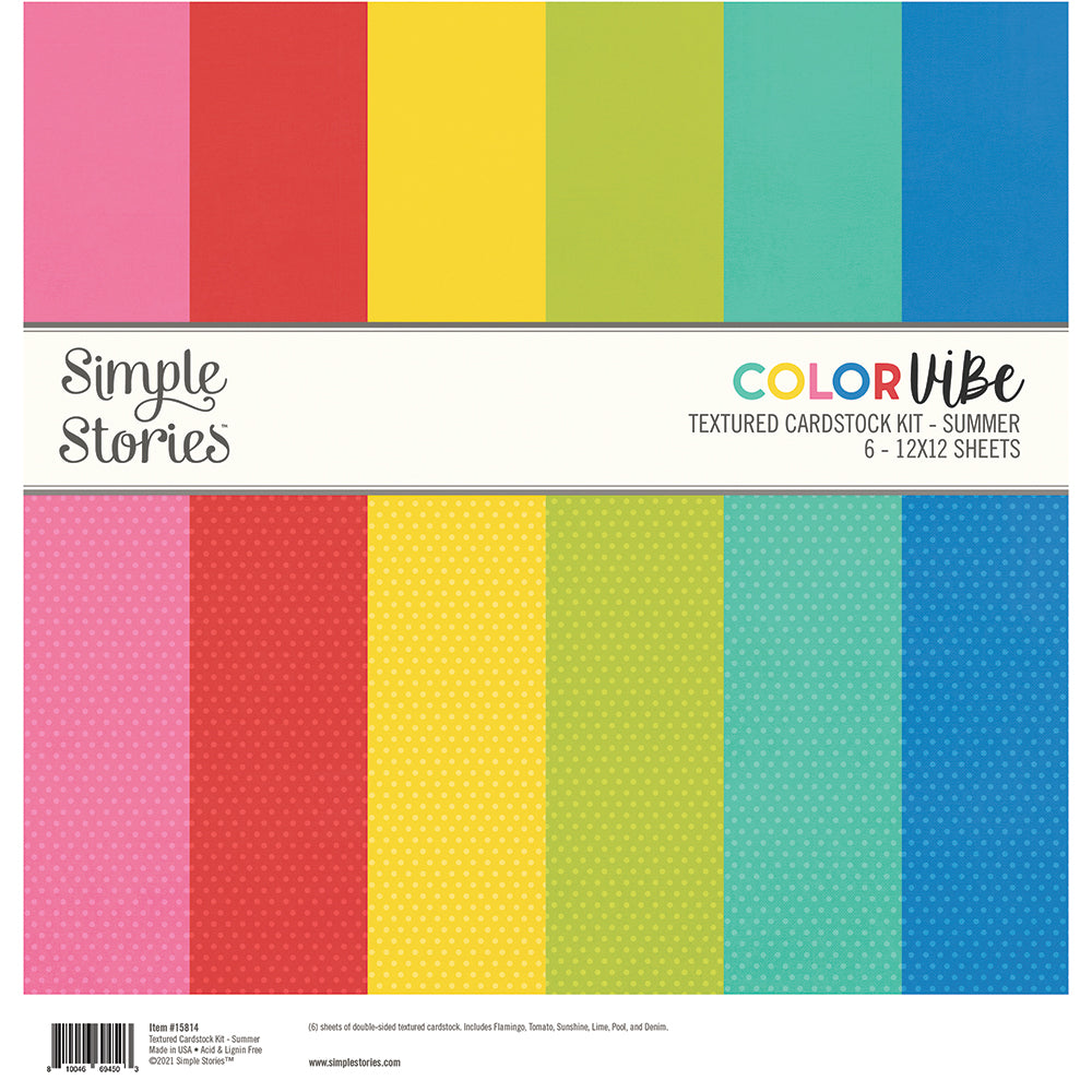 Color Vibe Textured Cardstock Kit - Summer