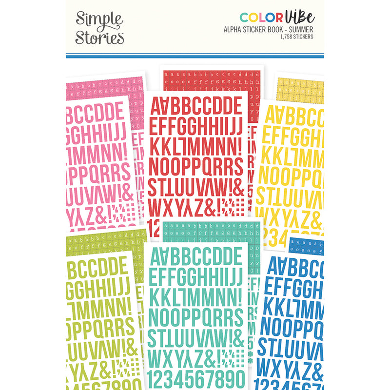 Color Vibe - Alphabet Sticker Book - Summer