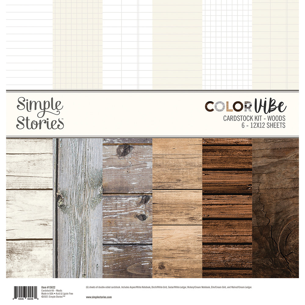 Color Vibe Cardstock Kit - Woods