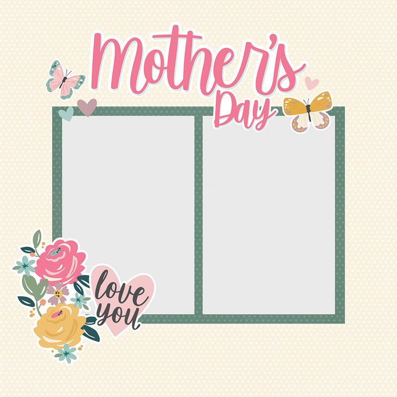 Simple Pages Page Pieces - Mother's Day